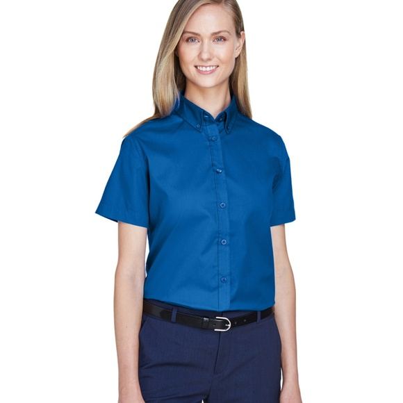 Ash City Core 365 Tops - Short Sleeve Twill Shirt Small NEW